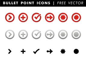 Bullet Point Icons Gratis Vector