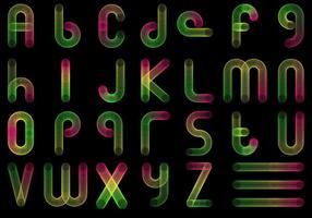 Gratis Slinky Font Vector