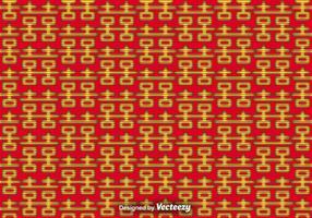 Vector dubbel geluk naadloos patroon