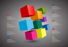 Gratis Cube Infographics Vector