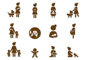 Gratis Moeders Icon Vector