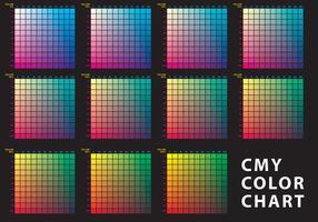 CMY kleurenkaart vector