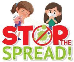 stop met het verspreiden van coronavirus vector