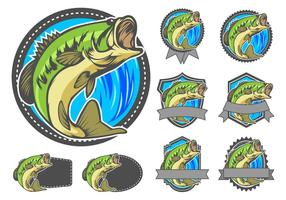 Largemouth bas badge vector
