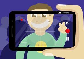 Zoeker Video Smartphone Vector Gratis