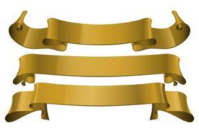 Gratis Gold Realistic Ribbon Vector