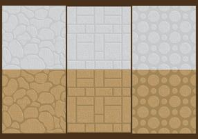 Stenen muur texturen vector