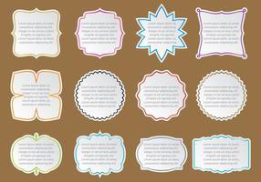 Tekstvakken Stickers