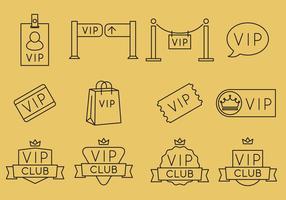 Vip lijn iconen vector