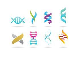 Dubbele Helix Logos vector
