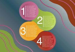Volgende stappen infografie vector