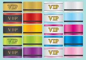 VIP-kaarten vector
