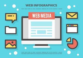 Gratis Web Infographics Vector Achtergrond
