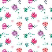 zoete bloemenwaterverf naadloos patroon
