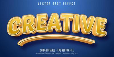 creatief geel teksteffect vector