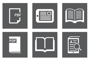 Boek, Ereader Icon Set vector