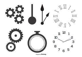 Clock Parts Vector Vormen