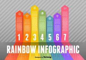 Regenboog Infographic Vector Elementen