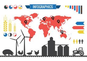 Infographic acriculture elementen
