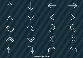 Vector Set Van Line Style Arrows Icons