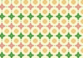 Bloemen Tegel Patroon Achtergrond vector