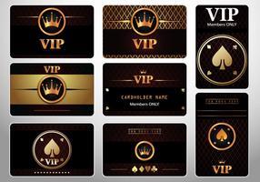 Set van VIP Cards Casino Royale vector