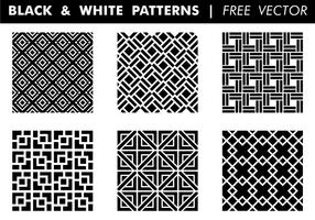 Zwart-witte patronen Gratis Vector