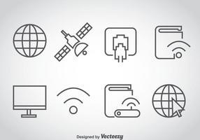 Internet overzicht pictogrammen vector