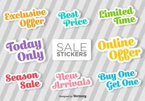 Typografische Verkoop Vector Stickers
