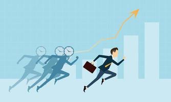 zakenmensen op grafiekconcurrentie