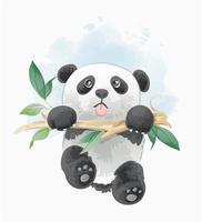Panda opknoping op vertakking van de beslissingsstructuur