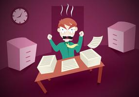 Burnout werk kantoor vector