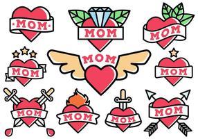 Gratis Mom Tattoo Vector