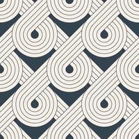 naadloos patroon met symmetrische geometrische lijnen
