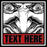 demon gezicht lachend met copyspace