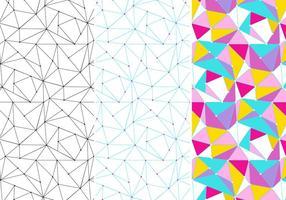 Neuron Geïnspireerde Patroon Set vector