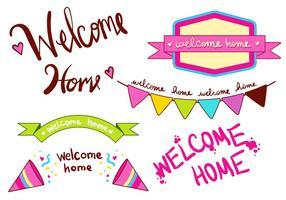 Welkom Home Banner Type Set vector