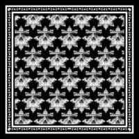 zwart-wit schedel gezicht patroon in frame
