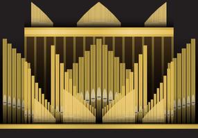 Pijp orgel vector