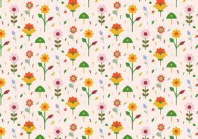 Pastel Bloemen Patroon Achtergrond vector
