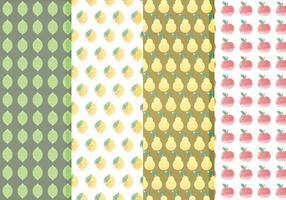 Vector Citrus- en Fruitpatroon Set
