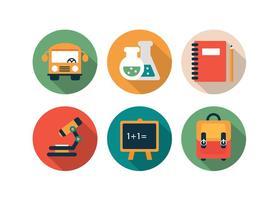 Gratis school iconen vector