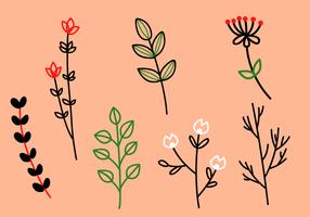 Gratis Floral Elements Vector