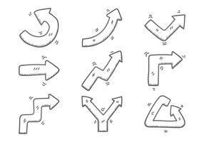 Flechas doodle set