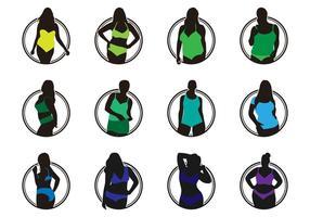 Mode lingerie logo vector pack