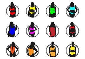 Alle maten Fashion Lingerie Logo Vector Pack