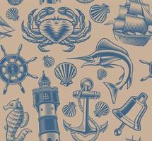 naadloos nautisch patroon