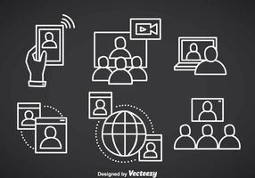 Webinar overzicht vector