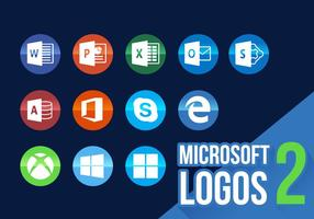 Microsoft Pictogrammen Nieuwe Logo's Vector 2