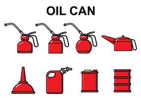 Gratis Olie Can Vector